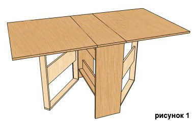 Как сделать стол трансформер своими руками чертежи